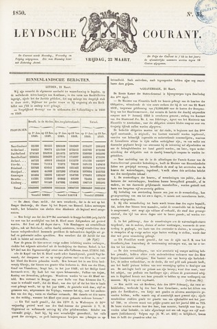 Leydse Courant 1850-03-22