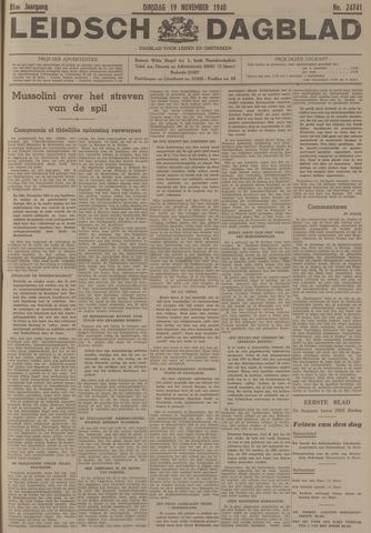 Leidsch Dagblad 1940-11-19