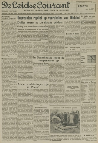 Leidse Courant 1954-02-03