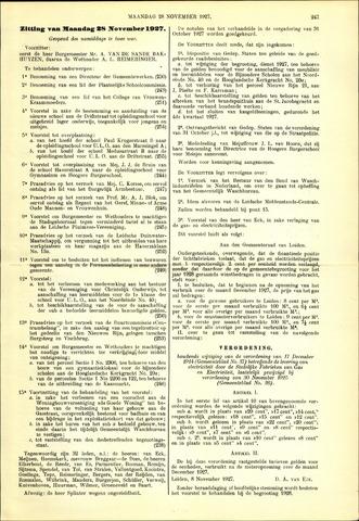 Handelingen van de Raad 1927-11-28