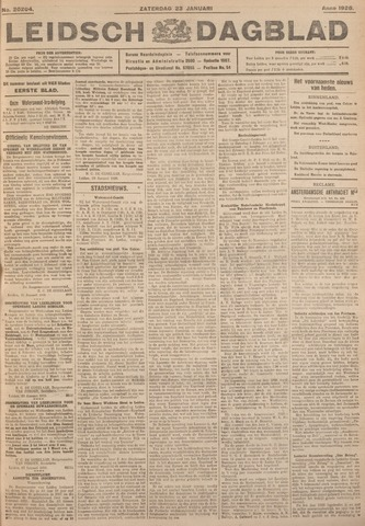 Leidsch Dagblad 1926-01-23