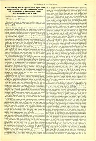 Handelingen van de Raad 1926-12-02