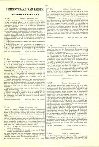 Handelingen van de Raad 1938-12-09