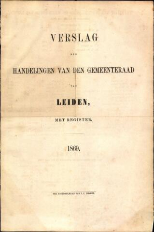 Handelingen van de Raad 1869-01-01