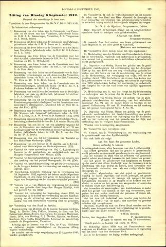 Handelingen van de Raad 1910-09-06