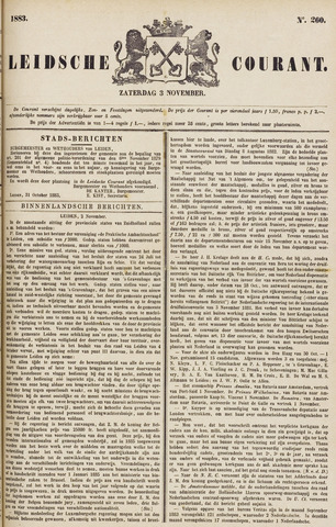 Leydse Courant 1883-11-03