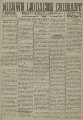 Nieuwe Leidsche Courant 1921-10-26