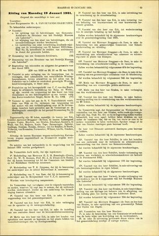 Handelingen van de Raad 1931-01-19