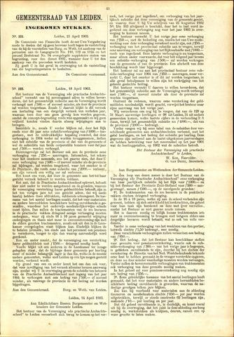 Handelingen van de Raad 1903-04-21