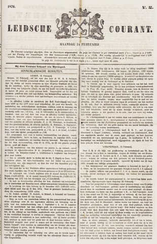 Leydse Courant 1876-02-14