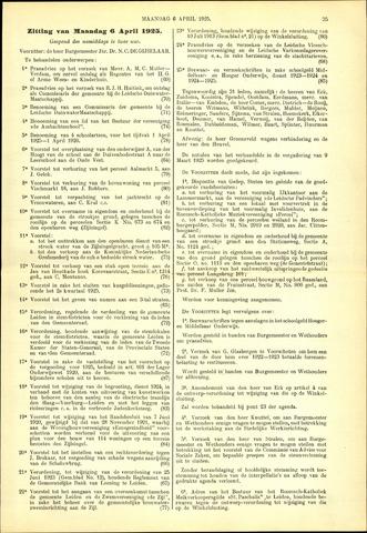 Handelingen van de Raad 1925-04-06