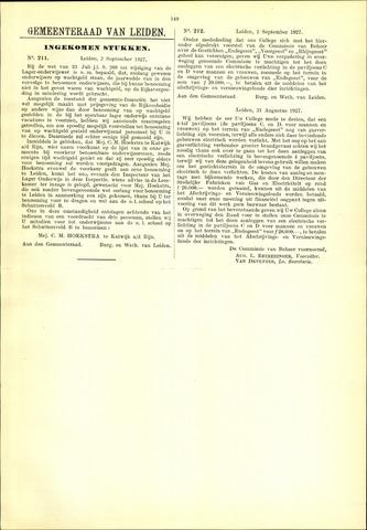 Handelingen van de Raad 1927-09-02