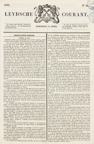 Leydse Courant 1855-04-11