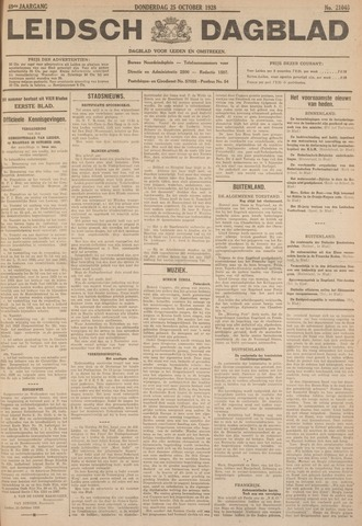 Leidsch Dagblad 1928-10-25