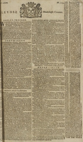 Leydse Courant 1770-11-19
