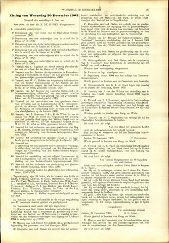Handelingen van de Raad 1903-12-30