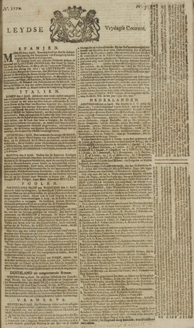 Leydse Courant 1770-04-27