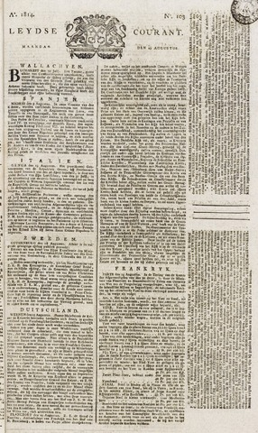Leydse Courant 1814-08-29