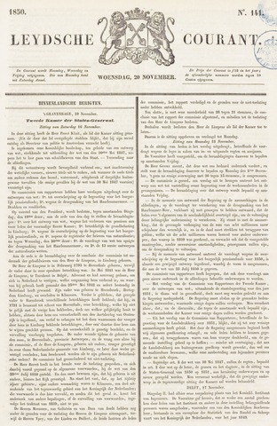 Leydse Courant 1850-11-20