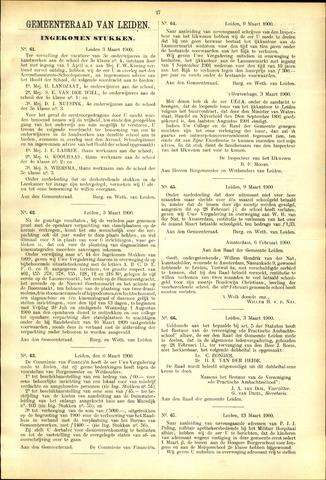 Handelingen van de Raad 1900-03-03