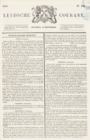 Leydse Courant 1846-09-14
