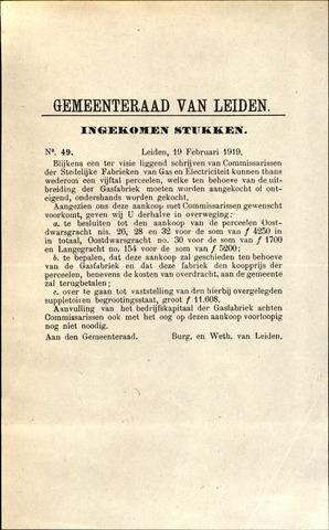 Handelingen van de Raad 1919-02-19