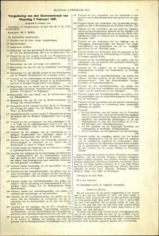 Handelingen van de Raad 1947-02-03