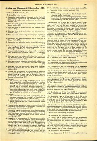 Handelingen van de Raad 1920-11-29