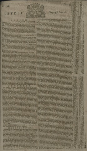 Leydse Courant 1740-11-18
