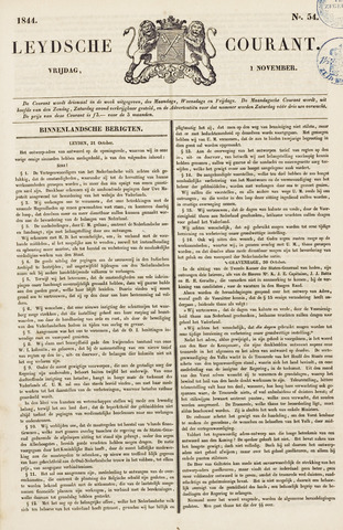 Leydse Courant 1844-11-01