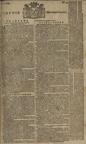Leydse Courant 1765-02-25