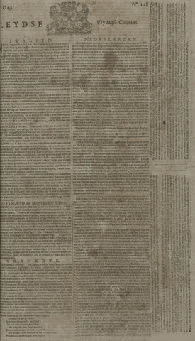 Leydse Courant 1743-10-25
