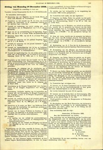 Handelingen van de Raad 1922-12-18