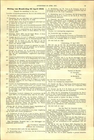 Handelingen van de Raad 1913-04-24