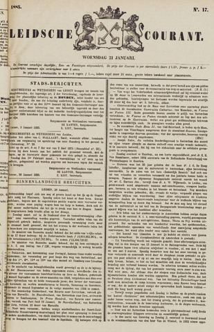 Leydse Courant 1885-01-21