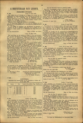 Handelingen van de Raad 1891-04-13