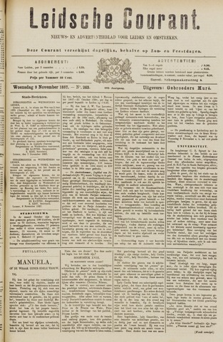 Leydse Courant 1887-11-09