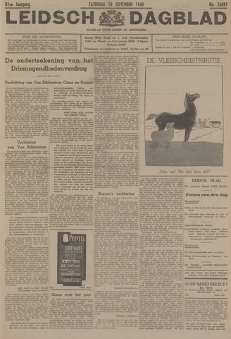 Leidsch Dagblad 1940-09-28