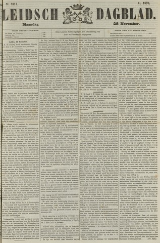 Leidsch Dagblad 1870-11-28