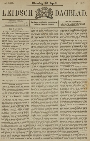 Leidsch Dagblad 1882-04-25
