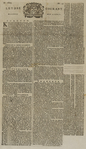 Leydse Courant 1805-04-15