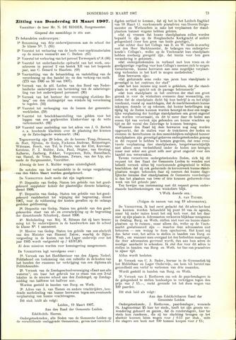 Handelingen van de Raad 1907-03-21