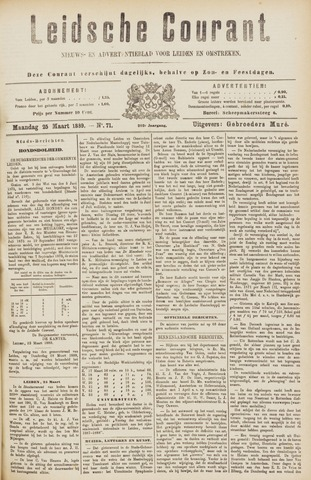 Leydse Courant 1889-03-25