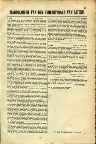 Handelingen van de Raad 1874-04-27