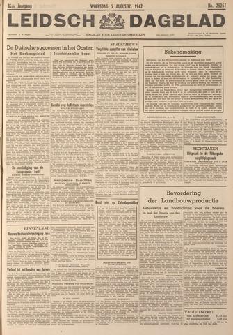 Leidsch Dagblad 1942-08-05