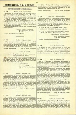 Handelingen van de Raad 1923-08-25