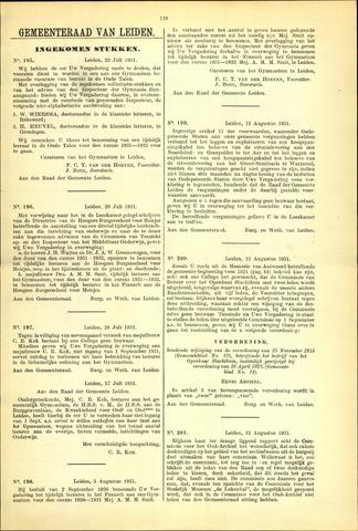 Handelingen van de Raad 1931-07-22