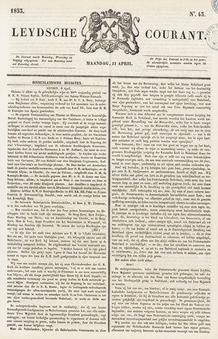 Leydse Courant 1853-04-11