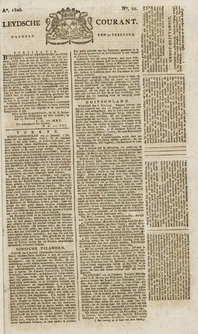 Leydse Courant 1826-02-20