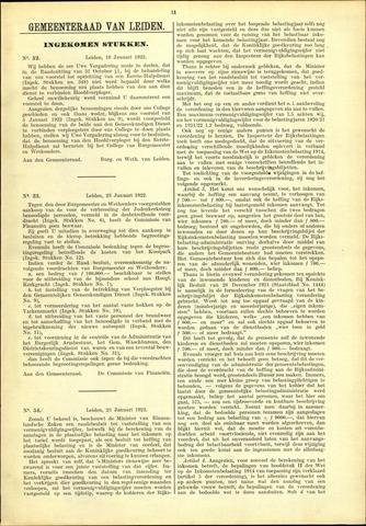 Handelingen van de Raad 1922-01-19